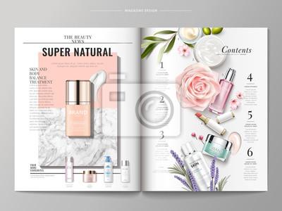 Obraz Szablon magazyn kosmetyczny