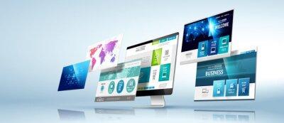 Obraz szablon projektowanie stron internetowych. Wektor
