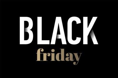 Szablon projektu napis sprzedaż czarny piątek. Transparent czarny piątek. Wektorowa ilustracja eps 10.