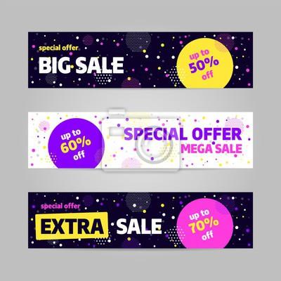 Szablon projektu transparentu sprzedaży Big, oferta specjalna. Ilustracji wektorowych.
