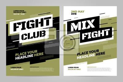 Szablon projektu układu dla zdarzenia walki lub innego wydarzenia sportowego. Można dostosować do broszury, raportu rocznego, magazynu, plakatu.