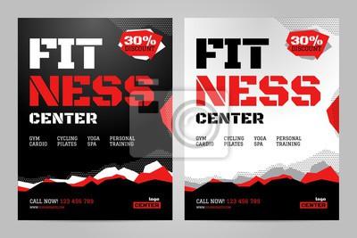 Obraz Szablon projektu układu wektor dla centrum fitness lub innego wydarzenia sportowego.