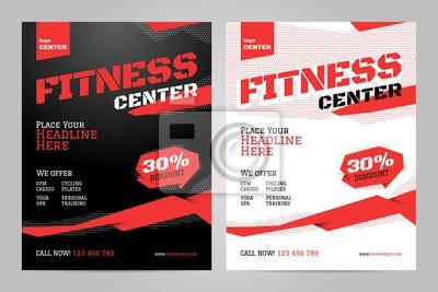 Szablon projektu układu wektor dla centrum fitness lub innego wydarzenia sportowego.