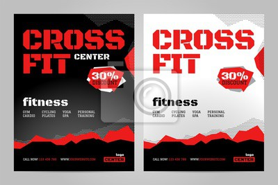 Szablon projektu układu wektor dla crossfit lub innego wydarzenia sportowego.