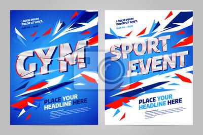Szablon projektu układu wektor dla imprezy sportowej, turnieju lub mistrzostw.