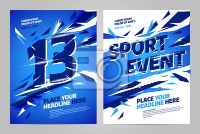 Szablon projektu układu wektor na imprezy sportowe, turniej lub mistrzostwa.