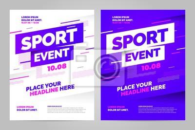 Obraz Szablon projektu układu wektorowego na wydarzenie sportowe.