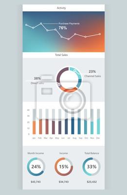 Szablon pulpitu nawigacyjnego Infographic