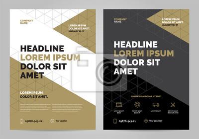 Obraz Szablon układu broszur, tło projektu okładki, raporty roczne. Można dostosować do broszury, plakatu, prezentacji korporacyjnej, ulotki, baner, strony internetowej. Szablon układu w formacie A4.
