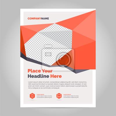 Obraz Szablon układu broszur, tło projektu okładki, raporty roczne. Można dostosować do broszury, raportu rocznego, magazynu, plakatu, prezentacji korporacyjnej