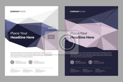 Obraz Szablon układu broszur, tło projektu okładki, raporty roczne. Można dostosować do raportu rocznego, magazynu, plakatu, prezentacji korporacyjnej.