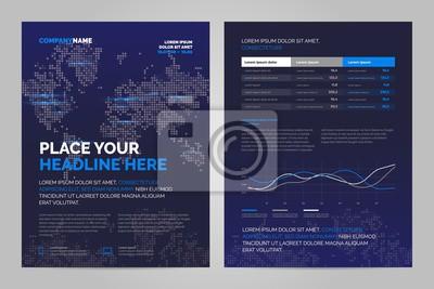 Obraz Szablon układu broszura w stylu techno, okładka wzór tła. Można dostosować do raportu rocznego, magazynu, plakatu, prezentacji korporacyjnej.