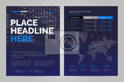 Szablon układu broszura w stylu techno, okładka wzór tła. Można dostosować do raportu rocznego, magazynu, plakatu, prezentacji korporacyjnej.