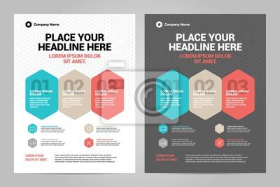 Szablon układu broszury Infographic, tło projektu okładki i raporty roczne.