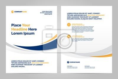 Szablon układu broszury, tło projektu okładki i raporty roczne.