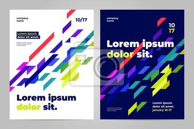 Obraz Szablon układu broszury, tło projektu okładki i raporty roczne.