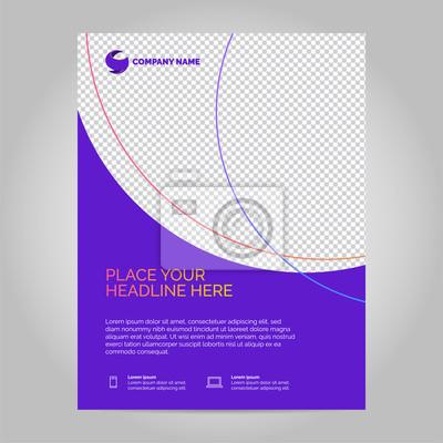 Szablon układu broszury, tło projektu okładki. Można dostosować do broszury, raportu rocznego, magazynu, plakatu.