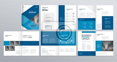 Obraz szablon układu dla profilu firmy, raport roczny, broszury, ulotki, ulotki, magazyn, książka z okładką projekt strony.