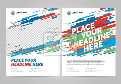 Obraz Szablon zaproszenia sport projekt ulotki. Można dostosować do broszury, raportu rocznego, magazynu, plakatu.