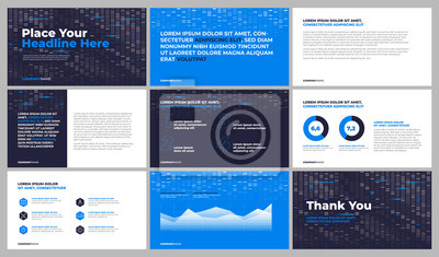 Szablony prezentacji bisiness. Wykorzystaj w prezentacji, raporcie korporacyjnym, raporcie rocznym i baneru. Wektor eps 10.