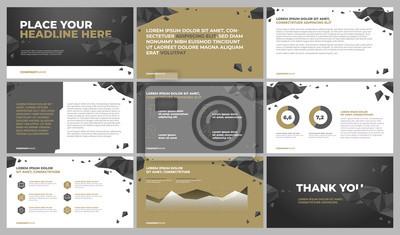 Szablony prezentacji. Wykorzystaj w prezentacji, raporcie korporacyjnym, reklamie i raporcie rocznym.