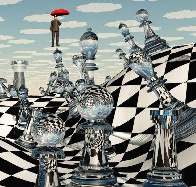 Obraz Szachy Pejzaż surrealistyczny