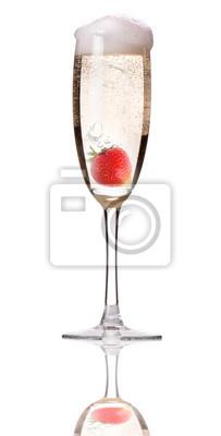 Szampan z truskawkami - christmas cocktail