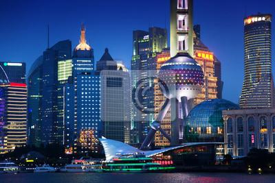 Szanghaj w nocy, Chiny