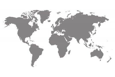 Obraz Szary puste mapa świata.