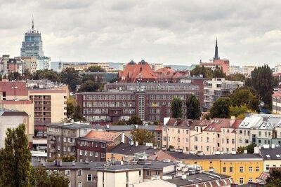 Szczecin cityscape, color toning applied, Poland.