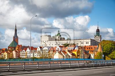Szczecin cityscape on a sunny day, Poland