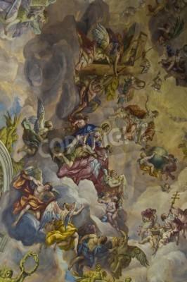 Obraz szczegóły, fresk w Karlskirche w Wiedniu