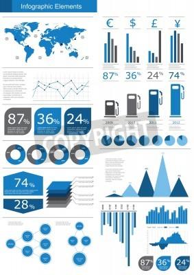 Szczegóły ilustracja infografika wektorowych. Mapa świata i grafika informacyjne