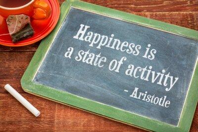 Obraz Szczęście to stan aktywności
