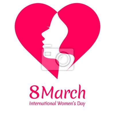 Szczęśliwy Dzień Kobiet kartkę z życzeniami z pięknym projektowania