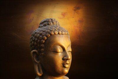 Obraz Szef Budha na złotym tle