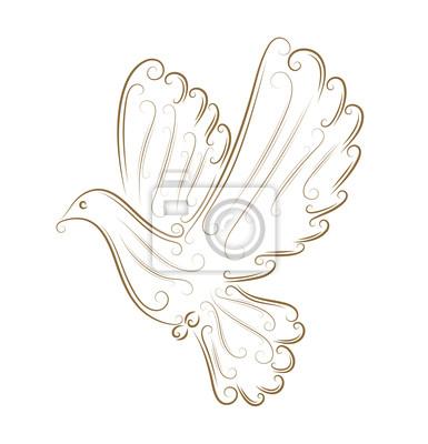 Obraz Szkic gołębia