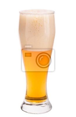 Obraz Szklanka piwa na białym tle