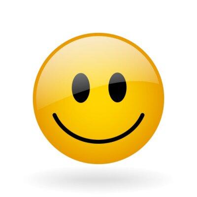 Obraz szkło uśmiech wektor