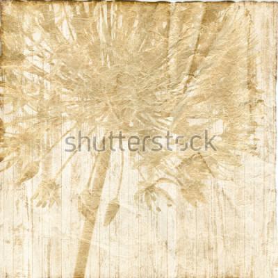 Obraz sztuka kwiatowy vintage kolorowe tło