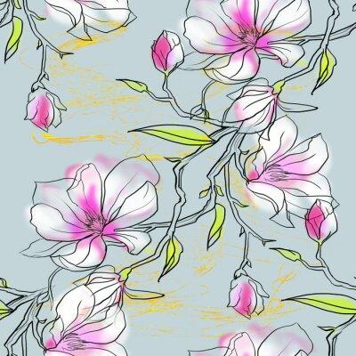 Obraz szwu z magnolii