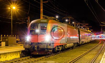 Szybki austriacka stacja kolejowa w Feldkirch