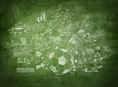 Obraz Tablica koncepcja piłka nożna