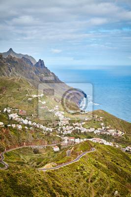 Taganana village mountain landscape, Tenerife, Spain.