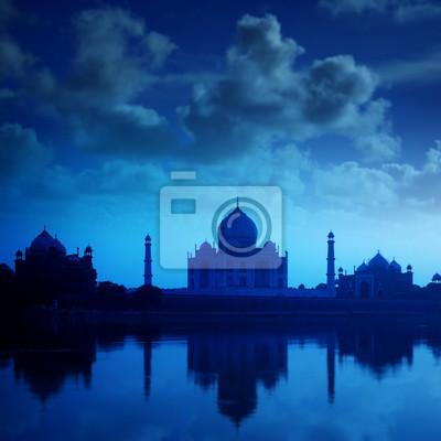 Taj Mahal Agra Indie na noc