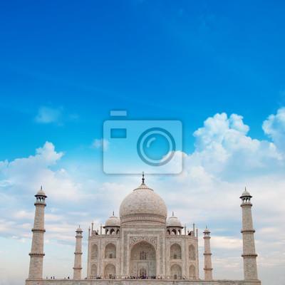 Taj Mahal Agra Indie z nieba