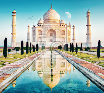 Obraz taj mahal w delhi indien