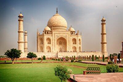 Obraz Taj Mahal w Indiach ponurej pogody