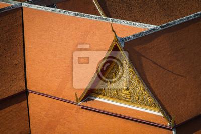 Tajlandzki tradycja budynku dachu tło