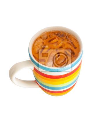 Tajski mrożona herbata mleka, odizolowane na białym